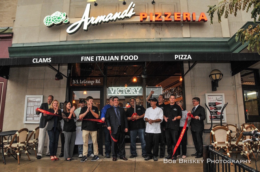 Ribbon Cutting at Armand's Victory Tap